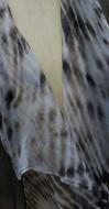Morgenmantel mit Volant-Kragen - transparent